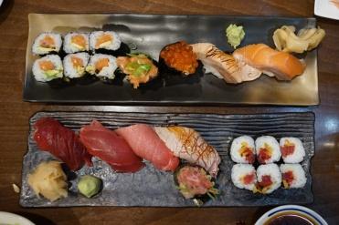Sake & tuna platters
