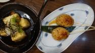 Tsukune & agedashi tofu