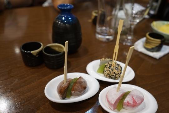 Ice cream mochi (chocolate, strawberry, sesame)