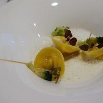 Celery tortelloni & truffle foam