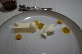 Yoghurt mousse & passion fruit