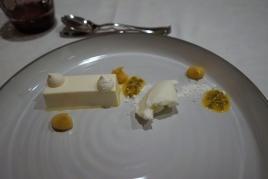 Yoghurt mousse & passion fruit